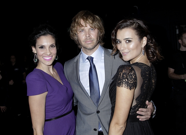 14. NCIS:LA's Daniela Ruah and Eric Christian Olsen team up with Cote de Pablo backstage.