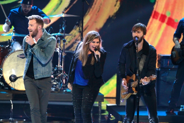 Lady Antebellum lights up the stage with a rockin' performance.