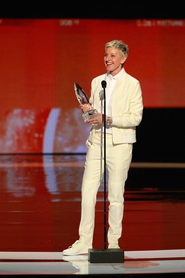 Ellen DeGeneres, winner of Favorite Daytime TV Host