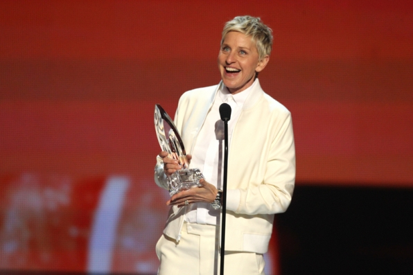 Ellen is stoked after winning another People's Choice Award.
