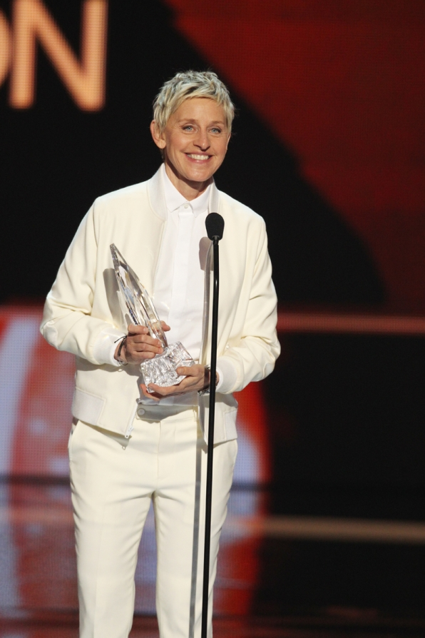 Ellen Degeneres smiles after her win for Favorite Daytime TV Host.