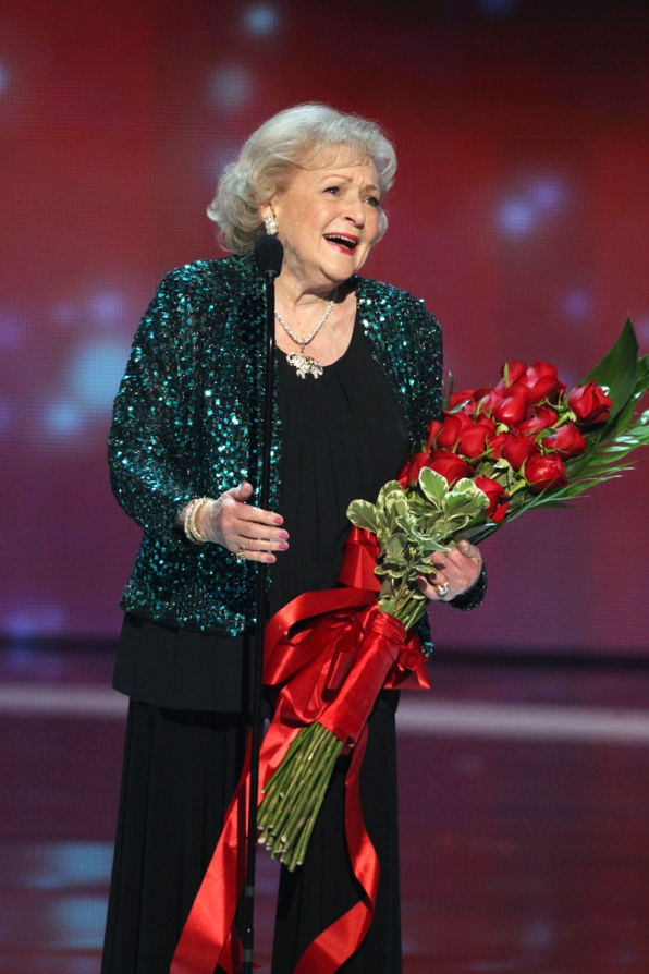 Betty White is in awe after taking home the award for Favorite TV Icon.