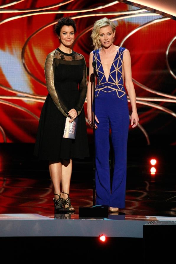 Presenters, Bellamy Young and Portia de Rossi.