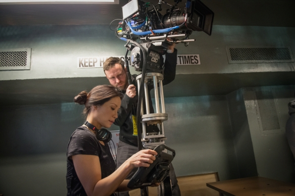 "Lucy Liu directs episode 315 ""The Female of the Species."""