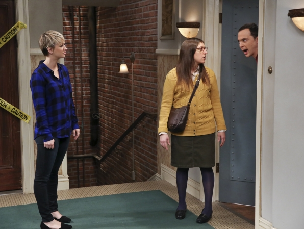 Penny, Amy and Sheldon
