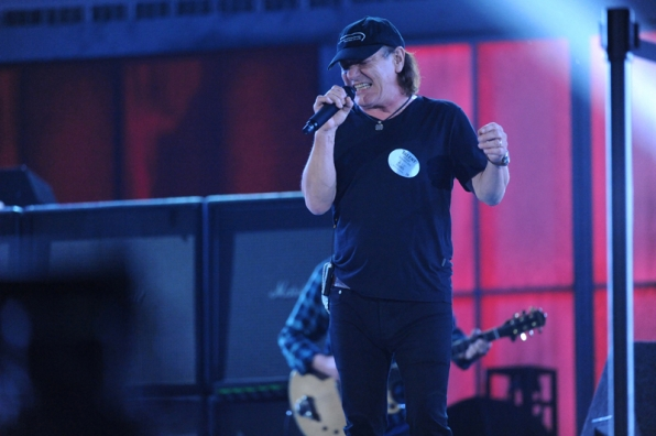 AC/DC rehearses for the big show.
