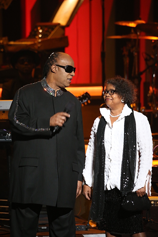 Honoree Stevie Wonder and Theresa Cropper