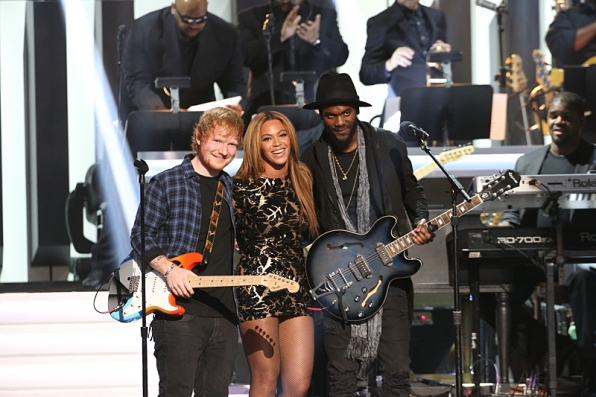 Ed Sheeran, Beyonce, and Gary Clark, Jr.