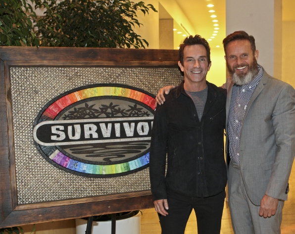 Jeff Probst and Mark Burnett at the Paley Center Exhibit Opening Evening