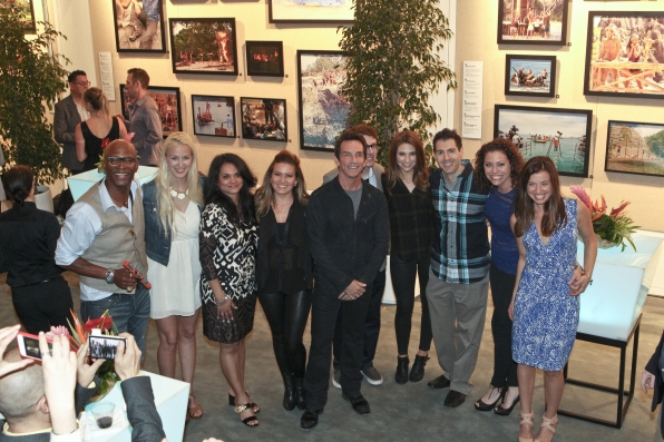 Nine former castaways and Jeff Probst