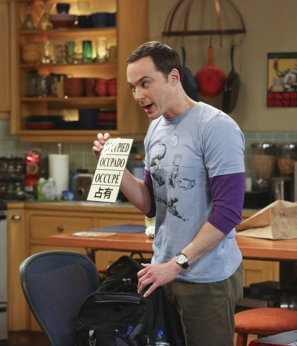 Sheldon has something to share