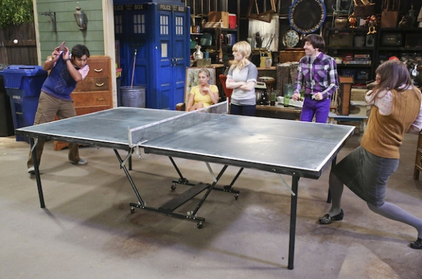 The Big Bang Theory: Raj vs. Amy in a ping pong match
