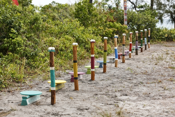 The castaways set eyes on their first Individual Immunity Challenge.