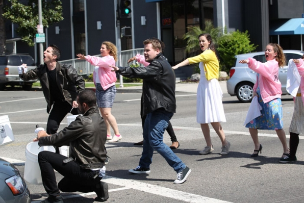 Have you seen choreography in a crosswalk before?