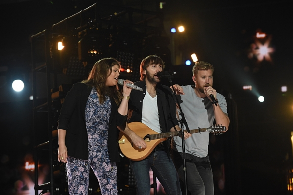 Trio Lady Antebellum prepare to take the stage on Sunday.