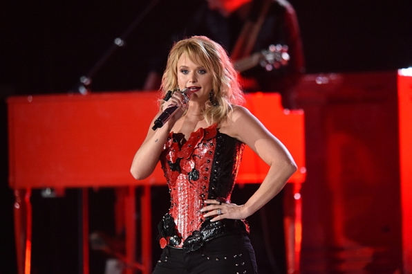 Miranda Lambert rocked the stage in her 3rd outfit of the night.