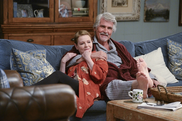 Dianne Wiest as Joan and James Brolin as John in <i>Life in Pieces</i>.