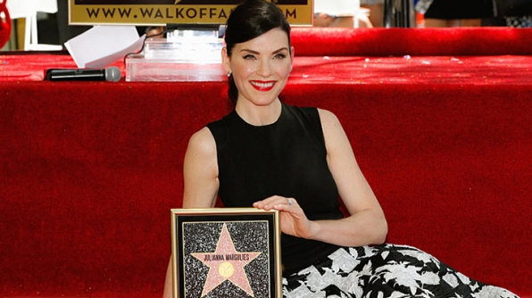 The accomplished actress unveiled her star.