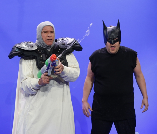 It's Mr. Freeze and Batman... kinda.