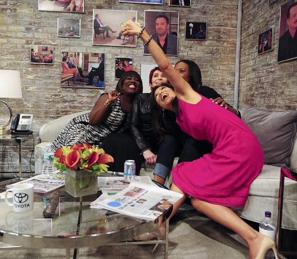 "The ladies of take a selfie at ""CBS This Morning"""
