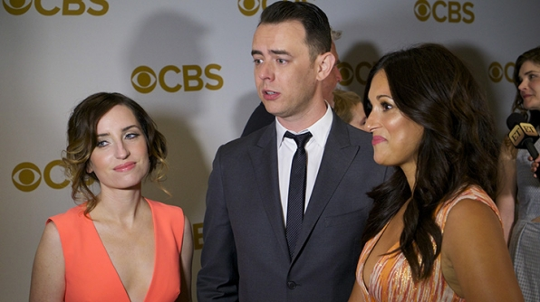 Zoe Lister Jones, Colin Hanks, Angelique Cabral on the red carpet.