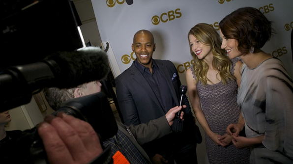 Mehcad Brooks, Melissa Benoist and Chyler Leigh on the red carpet.