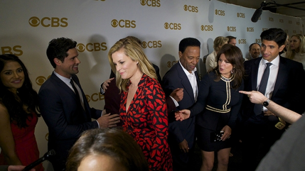 Bonnie Somerville, Luis Guzman, William Allen Young, Marcia Gay Harden, and Raza Jaffrey on the red carpet.