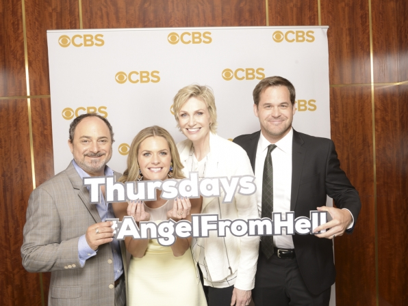 Kevin Pollak, Maggie Lawson, Jane Lynch, and Kyle Bornheimer - Angel From Hell