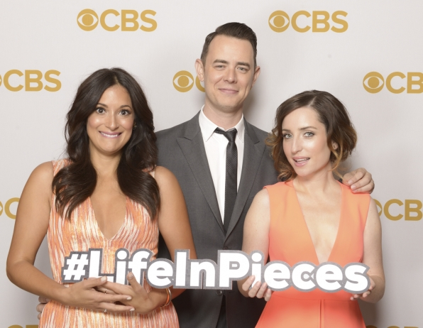 Angelique Cabral, Colin Hanks, and Zoe Lister-Jones - Life In Pieces