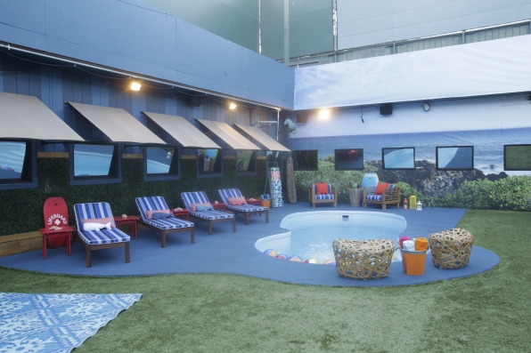 The Big Brother backyard gives the cast a place to get some air.