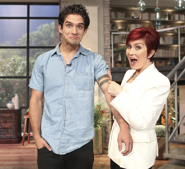 Tyler Posey and Sharon Osbourne