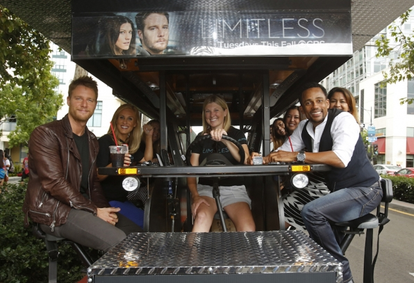 Actors Jake McDorman And Hill Harper On The CBS Mobile Screening Room