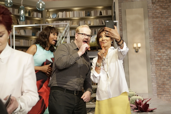 Aisha Tyler, Jim Gaffigan and Julie Chen