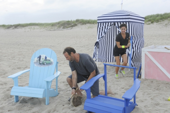 Chris and Logan (#ThePaparazzi) must work together to assemble their set of adirondack chairs.