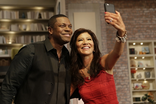 Chris Tucker and Julie Chen