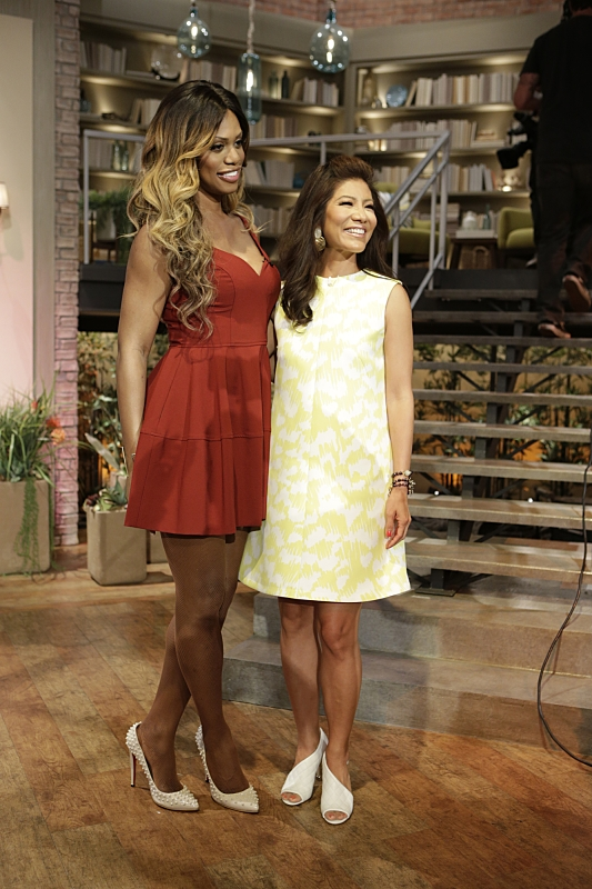 Laverne Cox and Julie Chen