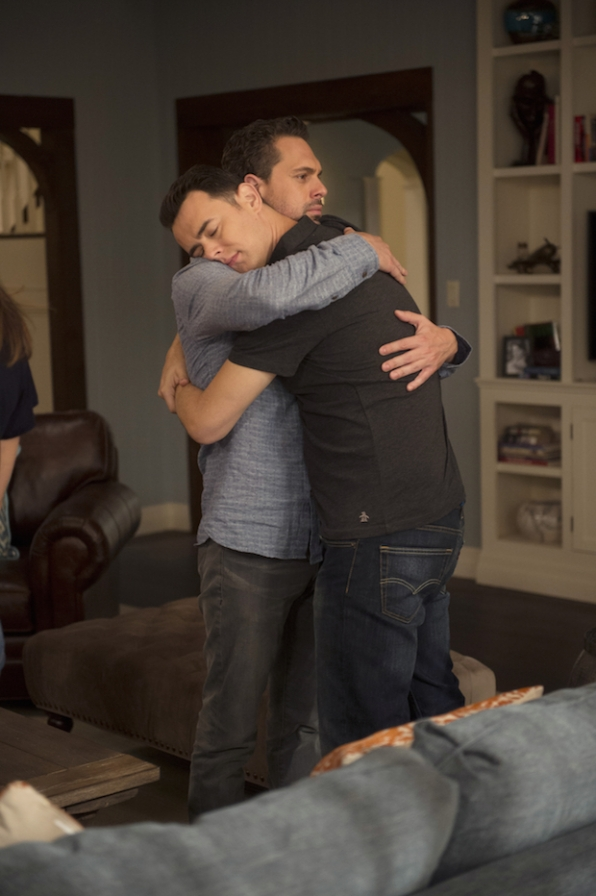 Matt comforts his younger brother, Greg