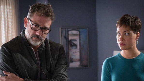 Jeffrey Dean Morgan as Jason Crouse and Cush Jumbo as Lucca Quinn
