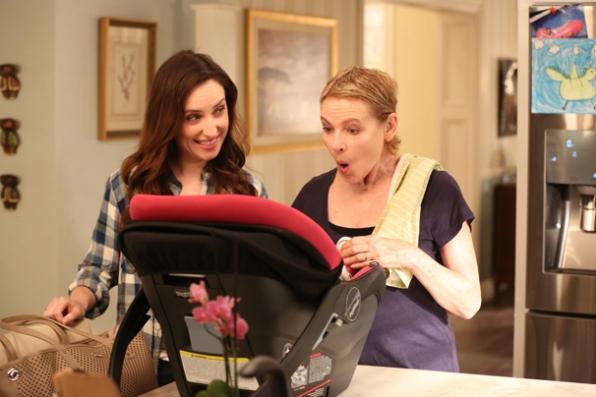 Jen's newborn brings out Joan's silly side