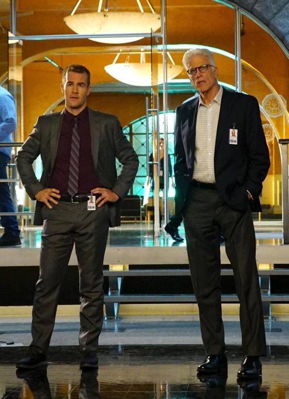 James Van Der Beek as Agent Elijah Mundo and Ted Danson as D.B. Russell