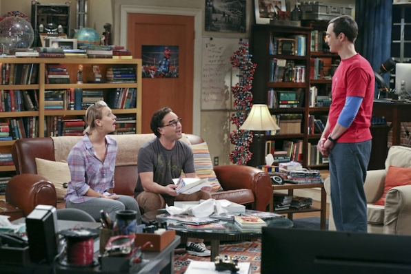 Penny and Leonard are surprised by Sheldon's behavior
