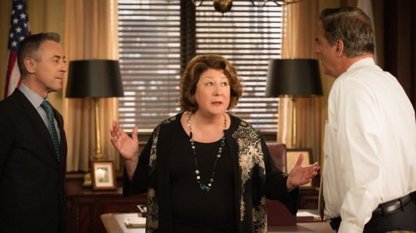 Alan Cumming as Eli Gold, Margo Martindale as Ruth Eastman, and Chris Noth as Peter Florrick