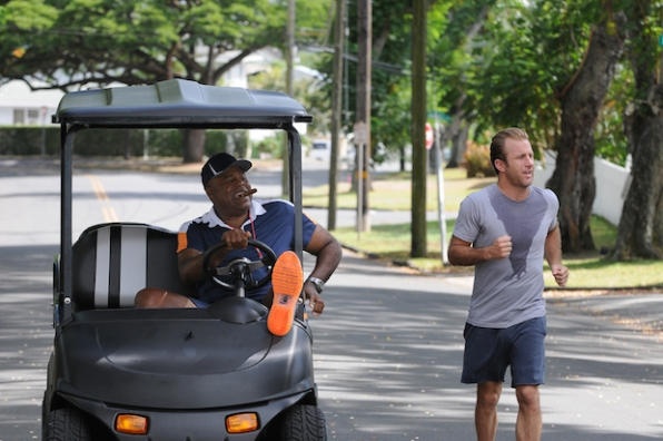 "Chi McBride as Captain Lou Grover and Scott Caan as Danny ""Danno"" Williams"