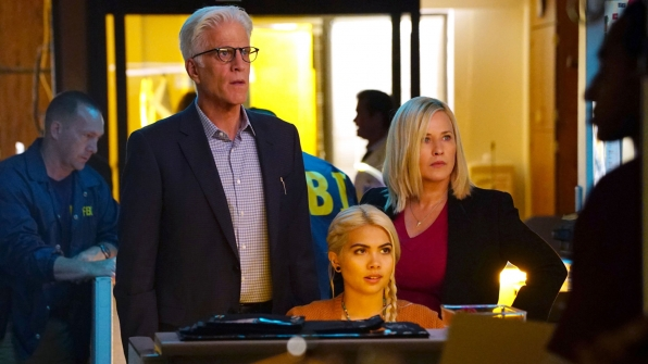 Patricia Arquette as Dr. Avery Ryan, Hayley Kiyoko as Raven Ramirez, and Ted Danson as D.B. Russell