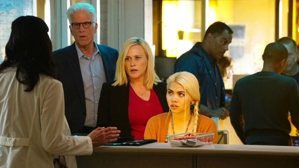 Patricia Arquette as Dr. Avery Ryan, Ted Danson as D.B. Russell, and Hayley Kiyoko as Raven Ramirez
