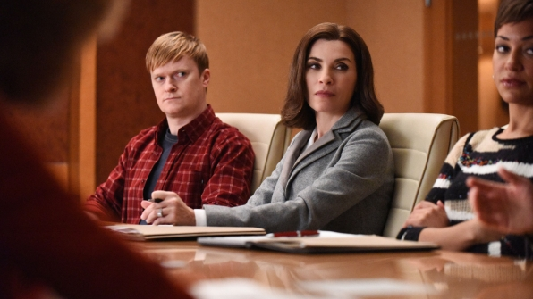 Julianna Margulies as Alicia Florrick and Cush Jumbo as Lucca Quinn