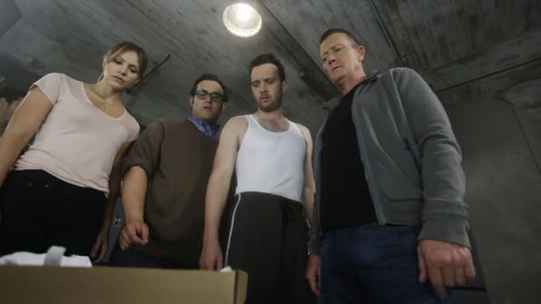 Katharine McPhee as Paige Dineen, Ari Stidham as Sylvester Dodd, Eddie Kaye Thomas as Toby Curtis, and Robert Patrick as Agent Cabe Gallo