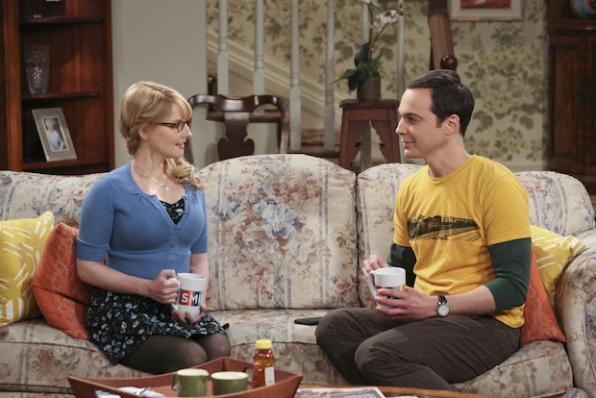 Sheldon talks over his roommate problems with Bernadette