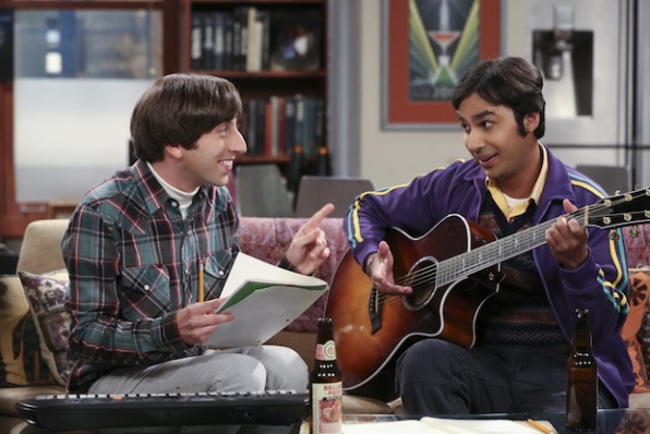 Howard and Raj make beautiful music together