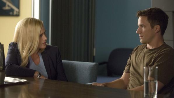 Patricia Arquette as Dr. Avery Ryan and Matt Lanter as Tristan Jenkins
